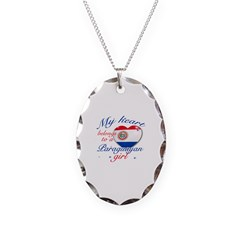 Paraguayan Valentine's designs Necklace Oval Charm