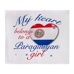 Paraguayan Valentine's designs Throw Blanket
