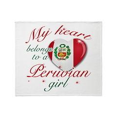 Peruvian Valentine's designs Throw Blanket