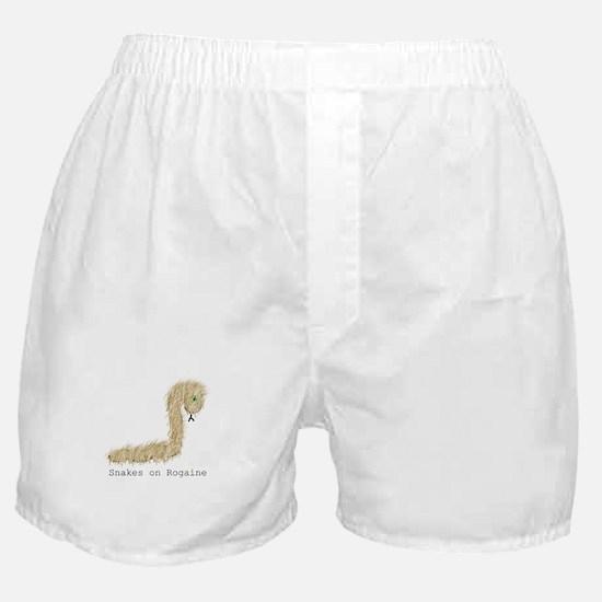 Snakes on Rogaine Boxer Shorts