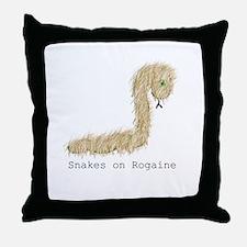 Snakes on Rogaine Throw Pillow