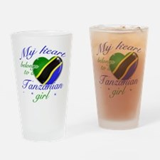 Tanzanian Valentine's designs Drinking Glass