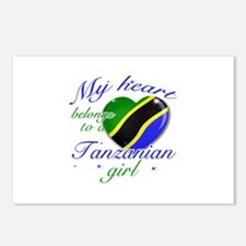 Tanzanian Valentine's designs Postcards (Package o