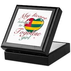 Togolese Valentine's designs Keepsake Box