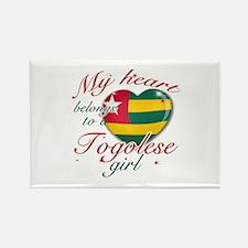 Togolese Valentine's designs Rectangle Magnet