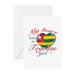 Togolese Valentine's designs Greeting Cards (Pk of