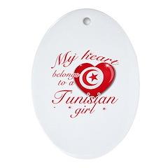 Tunisian Valentine's designs Ornament (Oval)