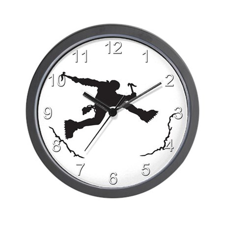 Mountain Climber Wall Clock
