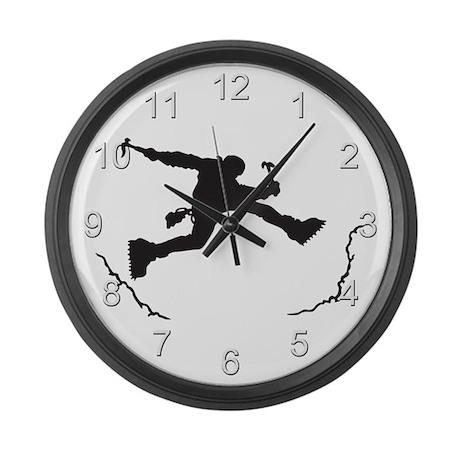 Mountain Climber Large Wall Clock