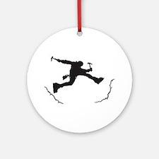 Mountain Climber Ornament (Round)