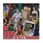 Don Dohler w bkgd Tile Coaster