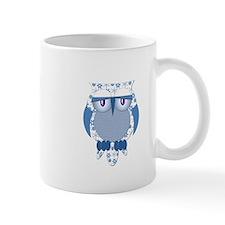 Blue Winter Snow Owl Mug