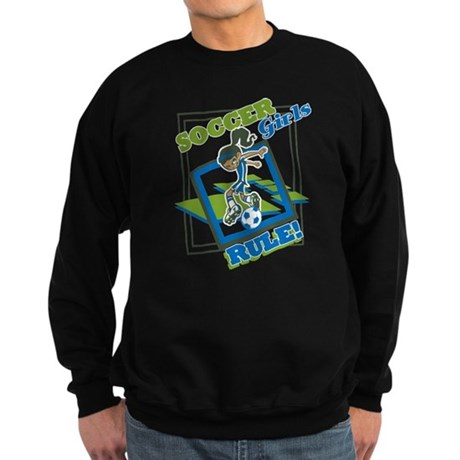 Soccer Girls Rules Sweatshirt (dark)