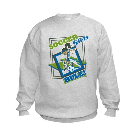 Soccer Girls Rules Kids Sweatshirt