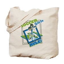 Soccer Girls Rules Tote Bag