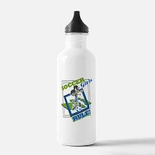 Soccer Girls Rules Water Bottle