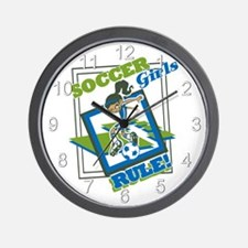 Soccer Girls Rules Wall Clock