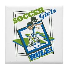 Soccer Girls Rule Tile Coaster