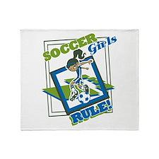 Soccer Girls Rules Throw Blanket