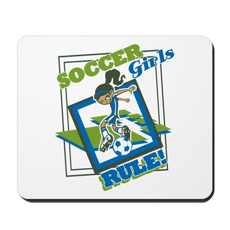 Soccer Girls Rules Mousepad