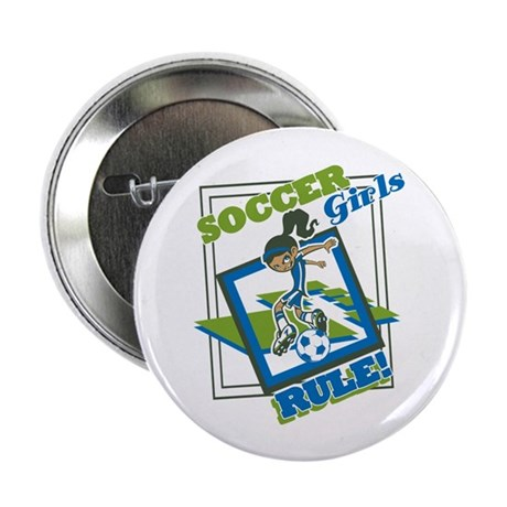 "Soccer Girls Rule 2.25"" Button (100 pack)"