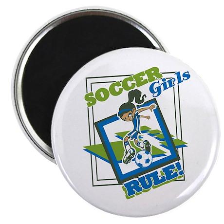 """Soccer Girls Rule 2.25"""" Magnet (100 pack)"""