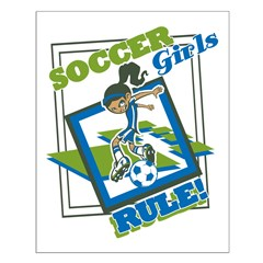 Soccer Girls Rules Posters