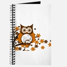 Brown Swirly Owl in Tree Journal