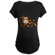 Brown Swirly Owl in Tree T-Shirt