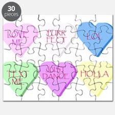 Mixed Heart Candies Puzzle