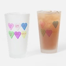 Mixed Heart Candies Drinking Glass
