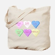 Mixed Heart Candies Tote Bag