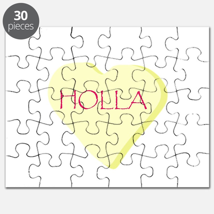 Holla Yellow Heart Candy Puzzle