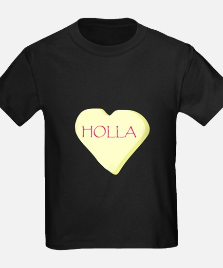 Holla Yellow Heart Candy T