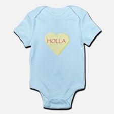 Holla Yellow Heart Candy Infant Bodysuit