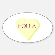 Holla Yellow Heart Candy Decal
