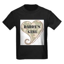 daddys_girl_camo_heart_personalized_swirled T-Shir