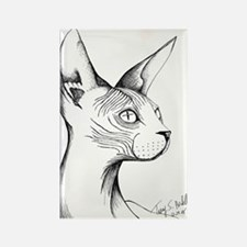 Hairless Profile Rectangle Magnet
