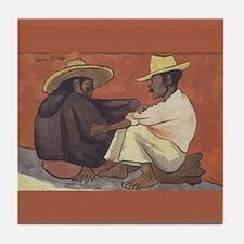 Diego Rivera Indian Couple Art Tile Coaster
