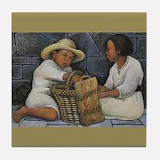 Diego Rivera 2 Children Art Tile Coaster