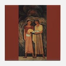 Diego Rivera Two Indian Women Art Tile Coaster