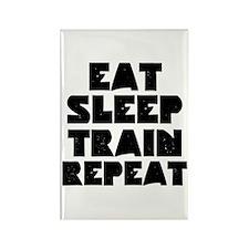 EAT SLEEP TRAIN REPEAT Rectangle Magnet