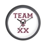 Team Women Wall Clock