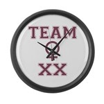 Team Women Large Wall Clock