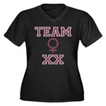 Team Women Women's Plus Size V-Neck Dark T-Shirt