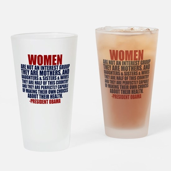 Pro Choice Women Drinking Glass