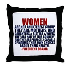 Pro Choice Women Throw Pillow
