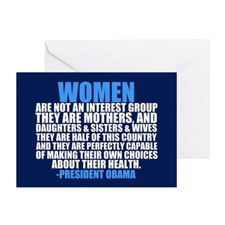 Pro Choice Women Greeting Cards (Pk of 20)