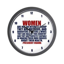 Pro Choice Women Wall Clock