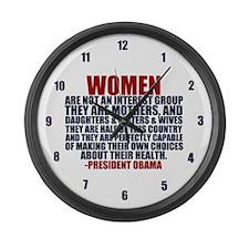 Pro Choice Women Large Wall Clock